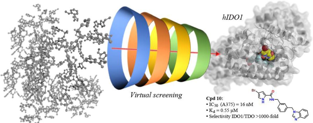 JMC | 820万化合物库中虚拟筛选发现高效肿瘤免疫靶点IDO1抑制剂