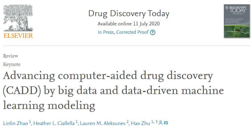 DDT | 大数据及机器学习加速计算机辅助药物设计的发展
