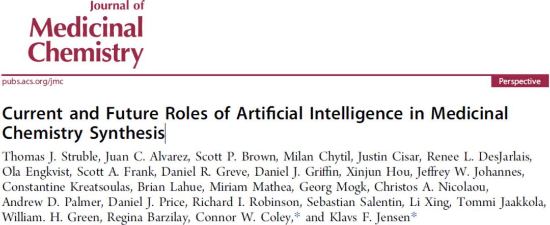 JMC | 药物发现和合成机器学习联盟综述人工智能在药物合成中应用