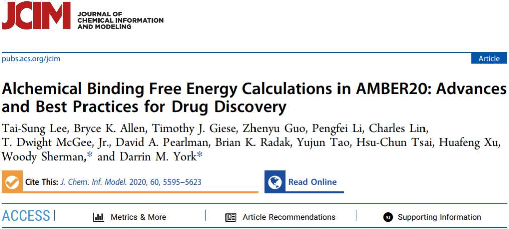 自由能方法及应用(四) AMBER20中的炼金术结合自由能计算—药物发现进展和最佳实践